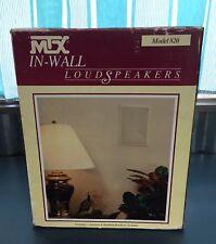 New listing Nos Mtx Model 820 100 Watt 2 Way In Wall Speakers Pair Vintage Set Home Rv