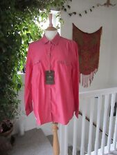 Weatherproof vintage Womens Pink Shirt Sleeves can be worn up or Down Size L New