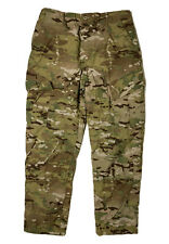 US Army Issue Men Size M (Measure 34x32) Camo Cargo Trousers Flame Resistant