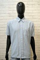 LEVI'S Camicia a Quadri Uomo Taglia XL Maglia Camicetta Blu Chiaro Shirt Men