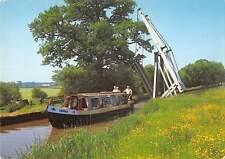 uk5693 llangollen canal lift bridge wrenbury lift bridge boat  wales   uk