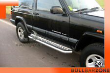 JEEP CHEROKEE XJ 1988-2001 MARCHE-PIEDS INOX PLAT / PROTECTIONS LATERALES