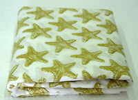 2½ Yards, Hand Block Print, Cotton. Natural Dyes. Artisan Fabric. White & Green