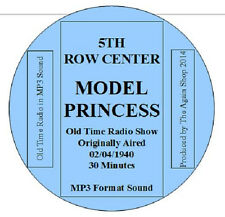 """Audiobook on CD *5th Row Center* """"Model Princess"""" Old Time Radio Show"""