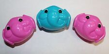 Set of 3 Small Plastic Elephant Heads Party Favors Fillers