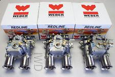3 Genuine WEBER 45 DCOE 152 Triple Side Draft Carb Carburetor 45DCOE NEW