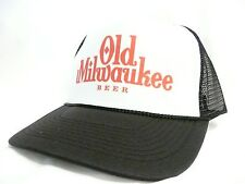Vintage Old Milwaukee Beer Trucker Hat Mesh Hat Snap Back Hat NEW Black