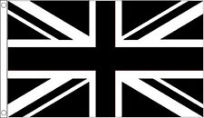 8' x 5' BLACK and WHITE UNION JACK FLAG Football Sport Team Club Extra Large