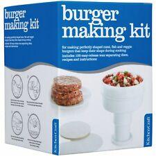 HAMBURGER BURGER MAKER PRESS + 100 Wax Discs & Recipes, Kit