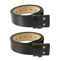 Sangle de ceinture en cuir pour hommes 3,8 cm sans boucle ceintures en cuir avec