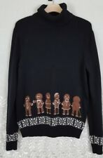 Alex Stevens Ugly Funny Christmas Holiday Party Turtleneck Sweater Gingerbread M