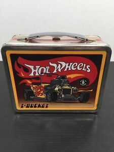 Vintage 1998 Hot Wheels Lunch Box And Thermos T-Bucket Worlds Coolest Car Co