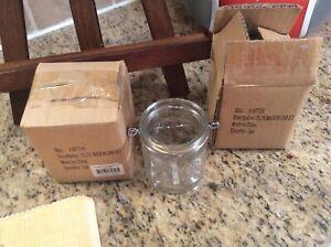 New with box Yankee Candle Mini Mason Canning Jars Tea Light Holder Set Of 2