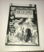 Ghost Rider Cheesecake Supernatural Terror Marvel Cover Production Art Acetate