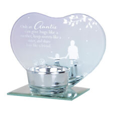 Glass Tea Light Candle Holder by Reflections of the Heart - Auntie