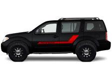 Vinyl Graphics Decal Logo Stripe Wrap Kit fits 2004-2012 Nissan Pathfinder - RED
