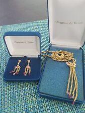 Jacqueline Kennedy Amethyst Chandelier Earrings & Tassle Necklace Camrose & Kros