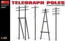 Mini Art 1/35 Telephone Telegraph Poles & Building Accessories 35541