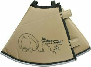 THE COMFY CONE E-COLLAR FOR DOGS & CATS TAN SIZE S/L NWTS
