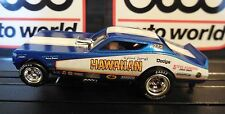 AUTO WORLD ~ Hawaiian '71 Dodge Charger Funny Car ~In Jewel Case ~ FITS AFX, AW