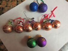 "8 Christopher Radko 2 G&D Christmas Ornaments Small 1 1/4"" Stocking caps"