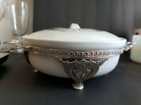 Royal Rochester Fraunfelter Bird of Paradise Casserole with Stand Excellent