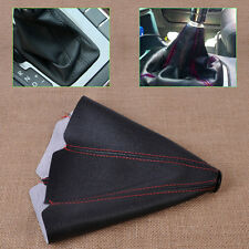 Car Universal Red Stitch JDM Black PVC Leather Manual Shifter Shift Boot Cover