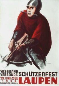 Original vintage poster SWISS SCHUTZENFEST SHOOTING 1935