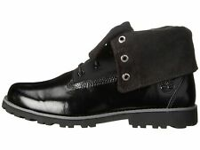 New Timberland Youth Authentic Velvet Fabric Fold-Down Boots (A154R)  Black