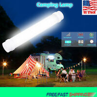 LED Portable USB Magnet Rechargeable 5 Modes Light Tube Outdoor Camping Lamp USA
