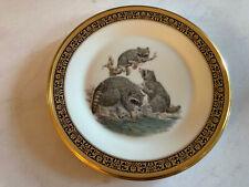 "Lenox Woodland Wildlife Boehm Collectors' Plate 1973 Raccoons 10 3/4"" Excellent"