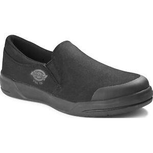 Dickies Supa Dupa Men's Steel Toe Electrical Hazard Canvas Slip-On Work Shoes