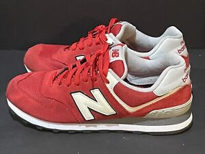 New Balance ML574VAA Sneakers Red-White and Gray Men's 12