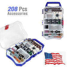 WORKPRO 208PCS Dremel Rotary Tool Accessories Kit Grinding Sanding Polishing Set