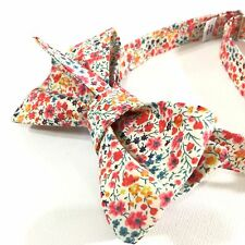 Bow Tie Gift Box MenTuxedo Wedding Floral Cotton Made USA Liberty of London NWT