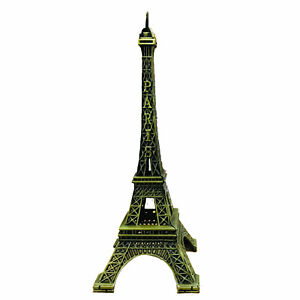 New Vintage Eiffel Tower Metal Statue Ornament|Paris Home Decor Love Souvenir