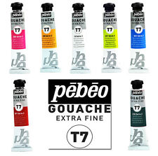 Pebeo T7 Extra Fine Artist Gouache Watercolour Paint 20ml - 40 Colours Available