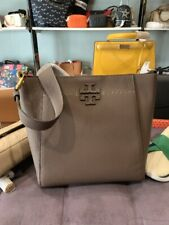 Authentic TORY BURCH MCGRAW HOBO BAG - SILVER MAPLE