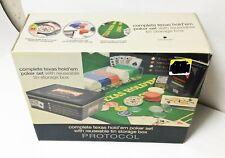 Protocol Complete Texas Hold Em Poker Set - New in Original Box
