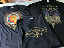 More details for 3 x vintage mastodon 2009 crack the skye limited edition t shirts (l) rare