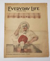 EVERYDAY LIFE MAGAZINE AUGUST 1930 COUNTRY HOME NEWS
