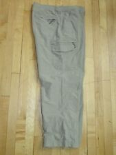 Columbia Titanium Khaki  Light Weight Cargo Travel Casual Pants  Men's 40  PG51