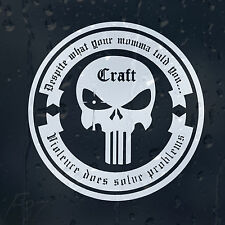 Punisher Skull Craft Despite What Your Momma Told You Car Decal Vinyl Sticker