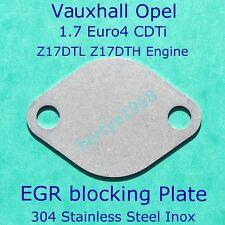 EGR Block Plate Vauxhall Opel 1.7 Euro 4 CDTi Z17DTL Z17DTH Astra, Corsa, Meriva