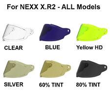 NEXX X.R2 Motorcycle Helmet Shield Visor Windscreen Yellow Silver Tint Clear +