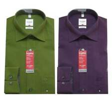 Machine Washable Long Formal Shirts 46 in. Chest for Men