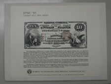 BEP souvenir card B 84 IPMC 1985 face 1882 $10 National Bank Note Franklin