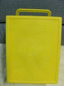 1989 Sesame Street Early Learning Games 20 Card Sets Used Big Bird Yellow Case