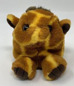 "Puffkins Ginger The Giraffe Bean Bag Plush Stuffed Animal Toy 4"" Swibco No Tag"