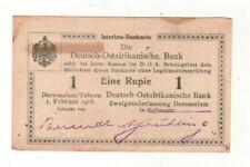 ++DOA  GERMAN EAST AFRICA  1 Rupie 1.2.1916  Ro 928 s   Serie Y2   ++